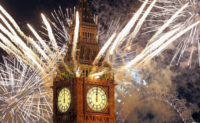New Years - Fireworks in London