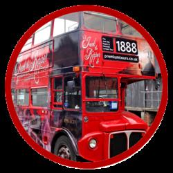Vintage open top 2-decker bus
